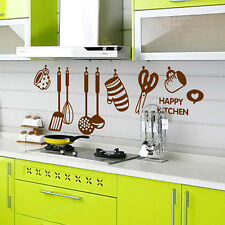 DIY Removable Happy Kitchen Wall Decal Vinyl Art Mural Decor Wall Stickers
