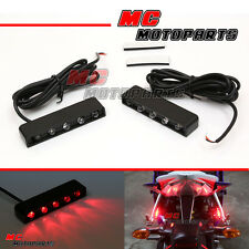 Foot Pegs LED Red Signals Light Kawasaki Ninja 300R Z800 Z750R Z1000 ER6
