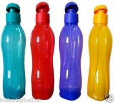 Tupperware Water Bottle Aqua Safe Flip Top Bottles 16 Oz New Pack of 4 X  500 ml