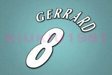 Liverpool Gerrard #8 UEFA Champions League 97-06 White Name/Number Set