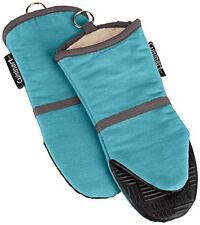 Cuisinart Oven Mitt with Non-Slip Silicone Grip, Heat Resistant to 500° F, Aqua,