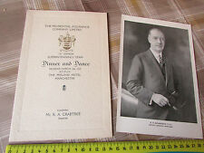 PRUDENTIAL Assurance Co 1933 Original Dinner Programme & Picture MANCHESTER