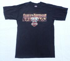 Harley Davidson T-Shirt El Paso TX Men Size Large Black Cotton Barnett