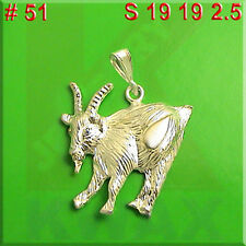 # 51 Goat Animal Sheep Ram Mountain 925 Charm Sterling Silver Necklace Pendant