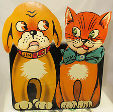 JIM THE DOG & TIM THE CAT  RARE TOFFEE CANDY  TIN  c1925  UNUSUAL DESIGN  LYONS?