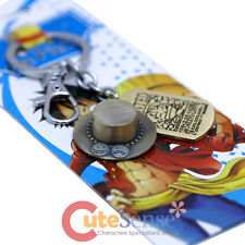 One Piece Portgas D Ace Hat Key Chain Anime Pewter Key Holder