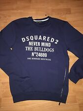 Men's 2016 NEVER MIND Genuine  Dsquared2 Jumper / Sweatshirt In NAVY MEDIUM