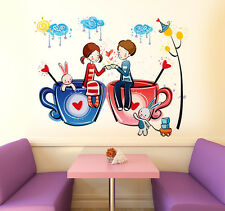 Wall Stickers for Bedroom Love Word for Valentines Day Romantic Decor with Beads
