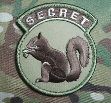 BLACK OPS USA ARMY TOP SECRET SQUIRREL MULTICAM VELCRO® BRAND COMBAT PATCH