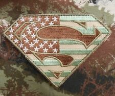 SUPERMAN AMERICAN FLAG TACTICAL US ARMY MULTICAM VELCRO® BRAND FASTENER PATCH