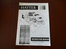 HAYTER H SERIES GARDEN TRACTOR INSTRUCTION MANUAL *READ/SEE ALL BELOW*