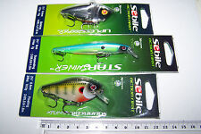Fishing lures lot of 3 mixed  SEBILE high quality, new.  Bass, Cod, Trout, Perch