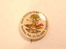 Vintage pin for 62nd Session Penna. State Grange; Hershey, PA Dec. 11-13, 1934