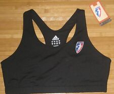 NWT Womens Adidas WNBA Sports Bra Fitness Basketball Black-L