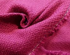 Italian Wool-Blend Boucle in Bright Magenta