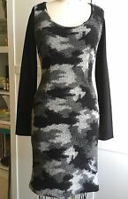 SAVE THE QUEEN DRESS LONG SLEEVE JERSEY WOOL Front Black XS SMALL