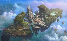 Castle in the Sky Manga Anime Fabric Art Cloth Poster 21inch x 13inch Decor 01