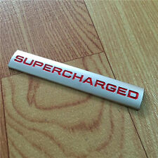 Red Metal Turbo Charger SUPERCHARGED Engine Emblem Badge Sticker For Land Rover