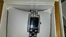 Auth. $480 Rochas Paris Swiss Made  Ladies Women Watch NIB , red carpet crystals