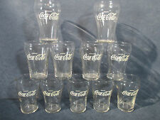 Drink Coca Cola Glasses Juice White Star and Lettering Libbey Vtg 1950 Set of 11