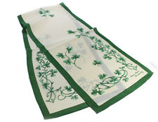 "Irish Shamrock Sprig Silk Scarf Cream 52"" x 12"""