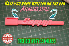 Action Hero Personalised Named 3D Pen Novelty Kids Man Woman Gift Camera