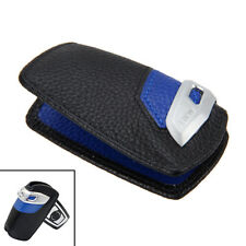 Leather Sport Line Genuine Key Case FOB Holder Fits BMW 1 3 7Series X1 X3 Blue