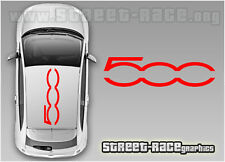 Fiat 500 roof logo large 004 decals stickers graphics vinyl