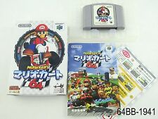 Complete Japanese Mario Kart 64 Nintendo Japan Import N64 Boxed US Seller B