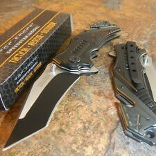 TAC-FORCE Rescue Speed Assisted Modified Tanto Glass Breaker Belt Cutter Knife!!