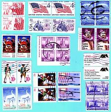US Stamps:  Set of  Vintage Stamps  Pairs & blocks,   Better Value,  USED  VF