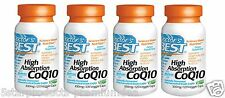 4 X NEW Doctor's Best CoQ10 with BioPerine 100 mg 480 Veggie Caps Life Extension