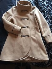 Girls Coat Jacket Military Style Beige Age 9-10 Years