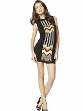 Missoni for Target M Multi Color Chevron Zig Zag Knit Tank Mini Sweater Dress