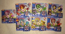 Paw Patrol Action Pack Figure & Badge Toy Lot 7 Everest Zuma Skye Chase Rubble