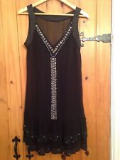 Oasis Black Dress Size 12 Excellent Condition