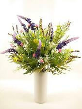 48cm Colourful Artificial Silk Flowers Lavender Rose Buds Daisies Mixed Bush