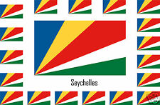 Assortiment lot de 10 autocollants Vinyle stickers drapeau Seychelles