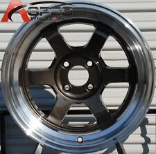 15X7 +20 ROTA GRID-V GUN METAL 4X100 WHEEL FIT ACCORD CIVIC SI EG6 EK9