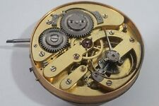 C949 Antique European High Grade Pocket Watch Movement & Dial Works As Is