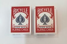 Bicycle Rider Back Playing Cards Poker 808 2 Decks RED Magic BRAND NEW