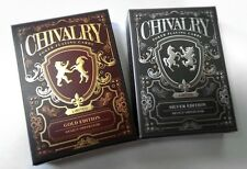 English Chivalry Limited Edition Playing Cards Historic Poker Custom 2 Deck Set