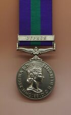 Full Size General Service Medal GSM with Cyprus Clasp