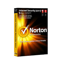 Norton Internet Security Standard 1 Device - 1 Year Latest 2017 - Code Only