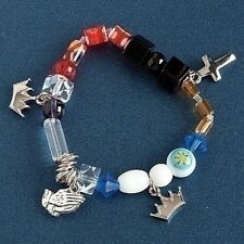 "ROMAN 7 - 7.5"" L Lord's Prayer Stretch Christian Faith Bracelet #40515 NEW Boxed"