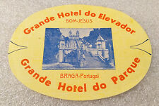 Vintage Rare ✱ HOTEL ELEVADOR / PORTUGAL ✱ Luggage label Kofferaufkleber 50`