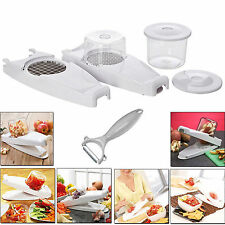 FRUIT VEGETABLE MULTI NICER DICER SLICER PLUS FOOD ONION POTATO CHIPS FRY CUTTER