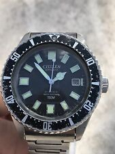 Vintage Rare Citizen Automatic Diver Military Issue Watch PAF 52-0110