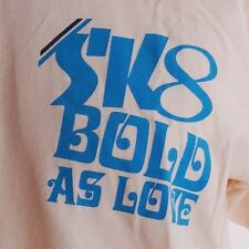 Old School! STACKS SKATEBOARDS Sk8 BOLD AS LOVE TSHIRT Mens L NOS early 2000's