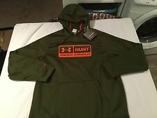 NWT $59.99 Under Armour Mens Coldgear Storm Hunt Hoodie Green Size XL